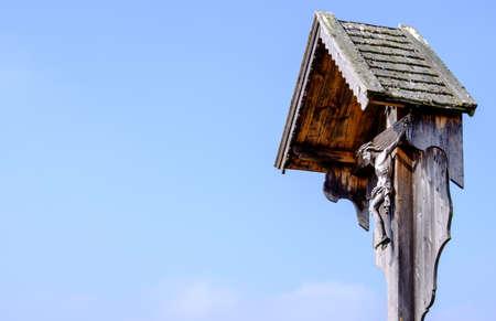 tipico calvario storico in Baviera - Germania