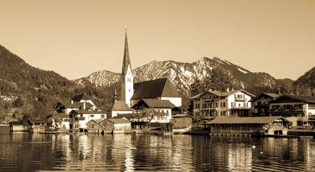 the village rottach-egern at the tegernsee lake - bavaria - germany
