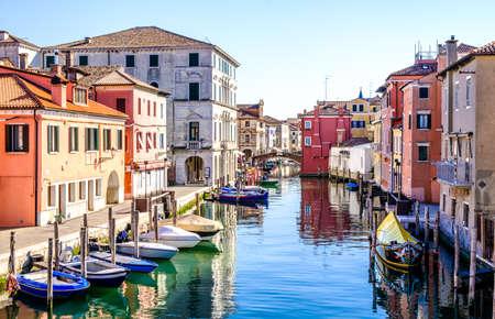 イタリアのキオッジャの古い町