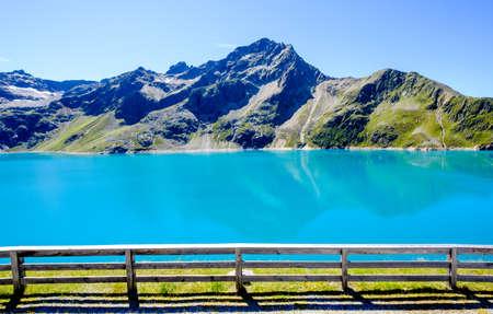 finstertal reservoir in austria - kuehtai