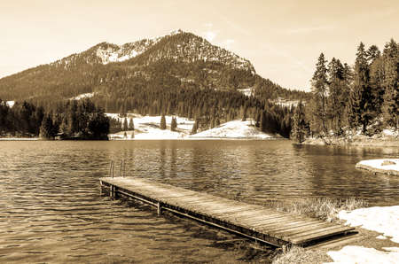 spitzingsee lake in bavaria - photo