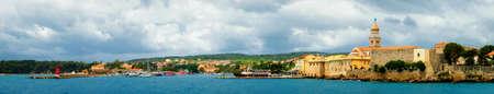old town of krk on the croatian island krk