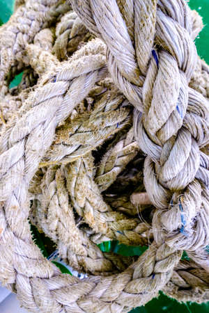 old ropes - closeup - photo - nice background