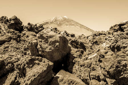 geological formation: pico del teide - spains highest mountain in tenerife - canaries Stock Photo