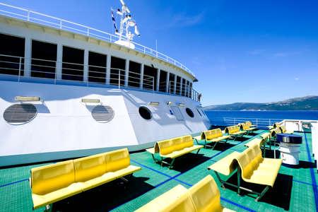 part of a modern car ferry