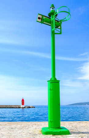 old beacon at a harbor in croatia