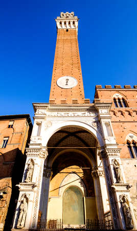Torre del Mangia in siena - italy