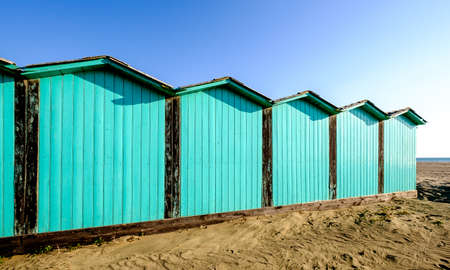 locker rooms at a beach