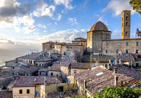 old town of volterra Stock Photo
