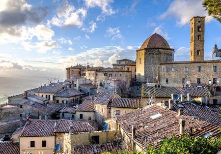 old town of volterra Stockfoto