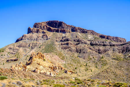 geological formation: desert at pico del teide - spains highest mountain in tenerife - canaries Stock Photo