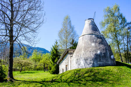 old lime kiln - bavaria - germany Editorial