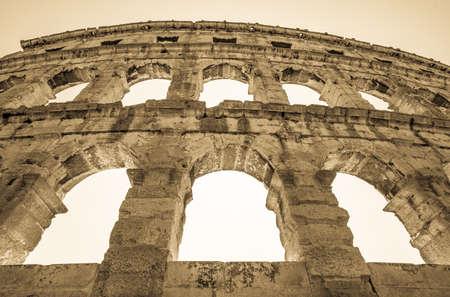amphitheatre: Roman Amphitheater Pula,Istria, Croatia