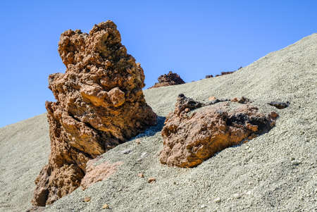 desert at pico del teide - spains highest mountain in tenerife - canaries Stock Photo
