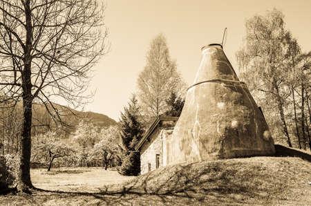 old lime kiln - bavaria - germany Stock Photo