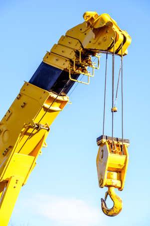 hook up: hook of a modern crane