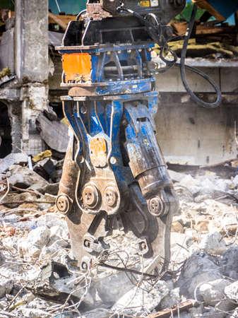 rundown: demolishing at a construction site