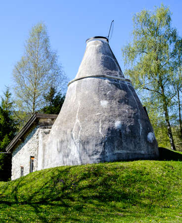 old lime kiln - bavaria - germany Stock Photo