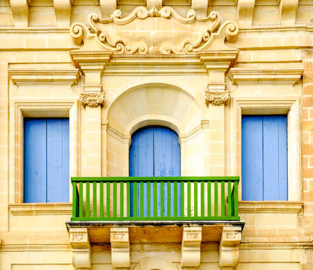 building feature: old facade of a historic building