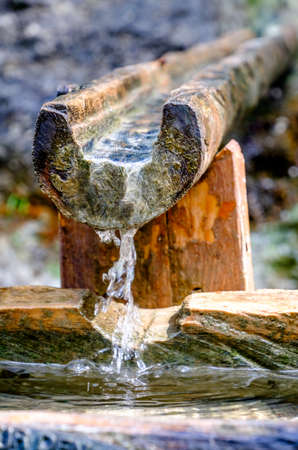 groundwater: old well at a farm