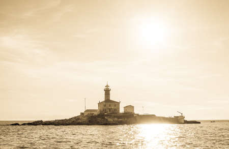 old lighthouse in rovinj - croatia