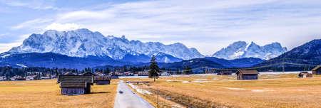 european alps in winter - zugspitze