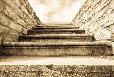 old steps at a historic building Stock Photo