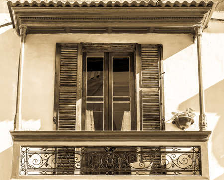 luxury apartment: old facade of a historic building