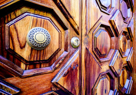 close-up of an old wooden door