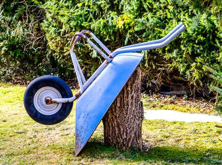 old wheelbarrow - nice closeup - photo Stock Photo