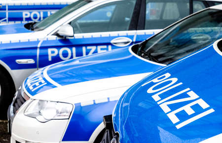Typical police vehicle in germany Editorial