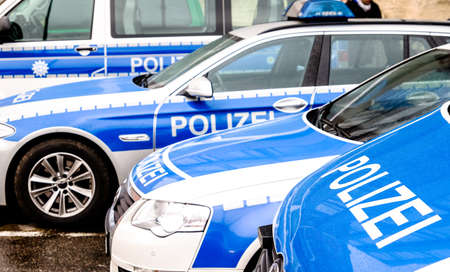 typical police vehicle in germany Stock Photo