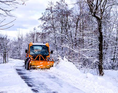 snowplow in winter - austria - europe