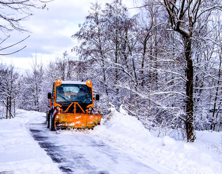 snowplow in winter - austria - europe