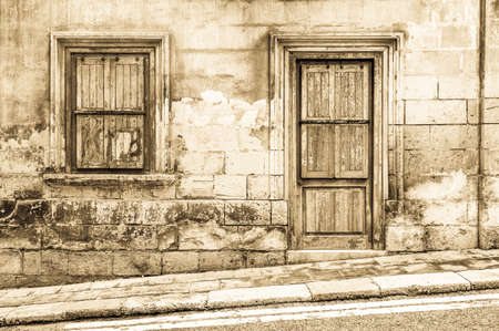 solid background: Old wooden front door