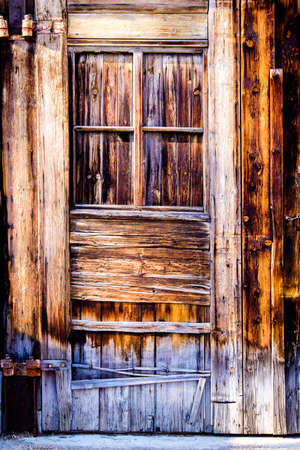old wooden door at a hut Stok Fotoğraf