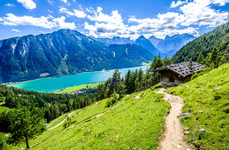 achensee lake in austria - pertisau 免版税图像