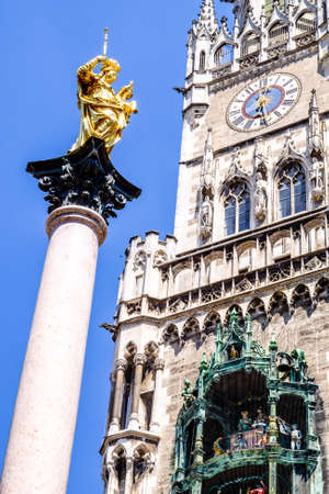 famous munich city hall at the marienplatz - germany - bavaria