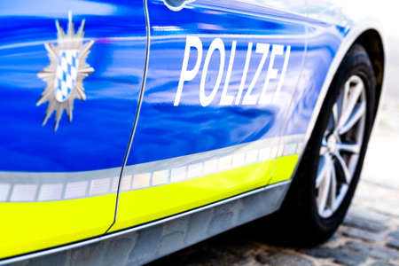 typical police vehicle in germany 版權商用圖片