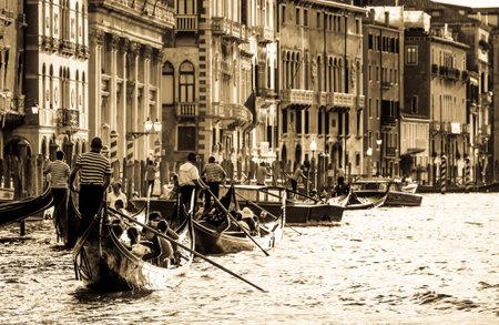 traditional gondola in venice - italy Editorial