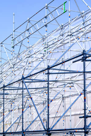 modern scaffolding at a construction site Stock Photo