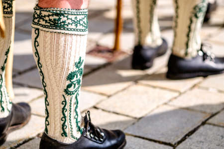 part of a typical bavarian musican Stock Photo