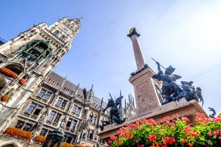 famous munich city hall at the marienplatz - germany - bavaria