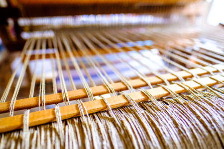 old weaving loom - closeup - photo