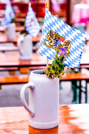 Typical mug at a beer garden - Bavaria