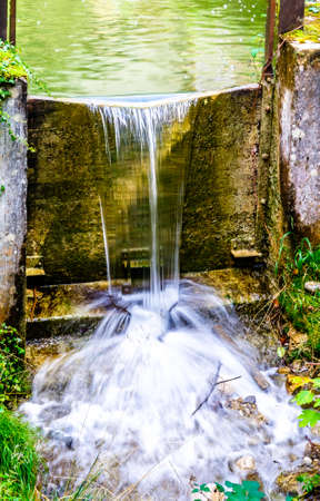 old watergate of a mill Stock Photo
