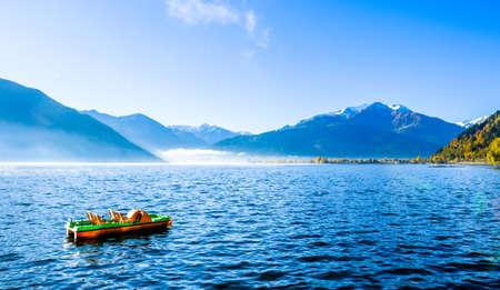 zeller see (zeller lake) in austria Stock Photo
