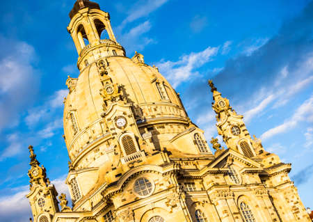famous frauenkirche in dresden - germany