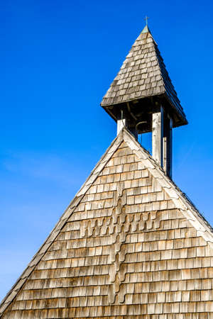 old church tower - close up Stock Photo