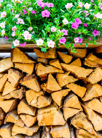 firewood at a farm - nice background